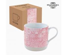 Taza Porcelana Mosaico Rosa