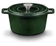 Castey Cazuela Alta Hierro Color Verde Oscuro (20 cm)