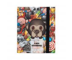 "Carpeta Anillas Emoji® ""I am a Monkey"" Oficial A4 + Recambio 100hojas"