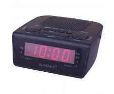 RADIO RELOJ SUNSTECH FRD-18BK