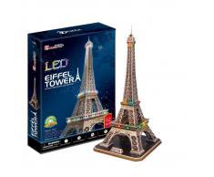 Puzzle 3D LED Torre Eiffel 82 piezas con luz Cubic Fun