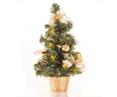 Bigbuy Árbol de Navidad LED Pequeño con Adornos (140 gr)