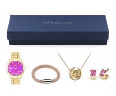 Caja regalo VipDeluxe (Reloj + Brazalete + Collar + Pendientes)
