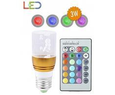 Bombilla de LED 16 Colores con mando a distancia