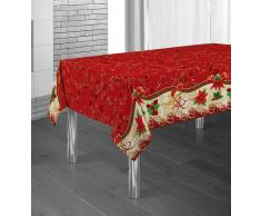Mantel Antimanchas Red Flower