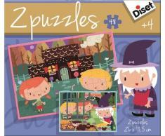 Diset Puzzle Cuento 2X48 Casita Chocolate