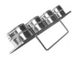 Ibili Set 4 Especieros Magneticos Inox 6X4 Cm