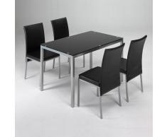 Conjunto mesa + 4 sillas negras