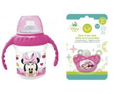 Pack Chupete + Taza de entrenamiento Minnie Baby