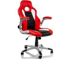 Silla giratoria con gas Gaming Roja