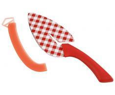 Kuhn Rikon Slice & Serve pala de filo flexible Gingham roja