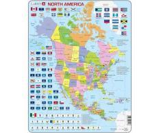 Larsen Puzzle Grande America Norte Político