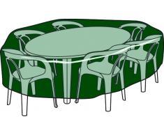 Altadex Funda polietileno (100 gr.) cubre mesas y sillas circular Ø205 / 90 cm altura