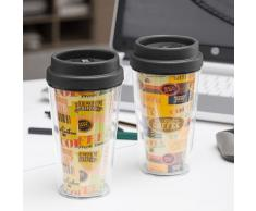 Vaso con Tapa y Doble Pared Coffee
