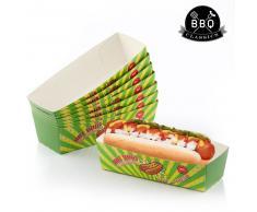 Set de Cajas para Perritos Calientes BBQ Classics (Pack de 8)