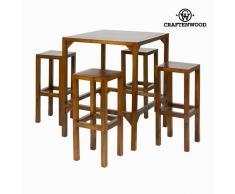 Mesa alta con 4 taburetes - Colección Franklin by Craftenwood