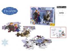 Puzzle coloreable 50x35cm 60pz Frozen