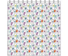 Sorema Leaves Cortina baño 180x200cm Multicolor