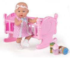 Cuna de bebé + muñeco