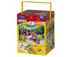 Pack Puzzle coloreable Disney + Rotuladores