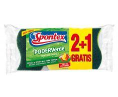 Spontex Estropajo Poder Verde Esponja (2+1uds)
