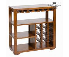 Botellero Madera de mindi (82 x 80 x 35 cm) - Colección Serious Line by Bravissima Kitchen