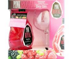 Pack Gin Pink Royal 40º 0.7 L + COPA BALÓN serigrafiada