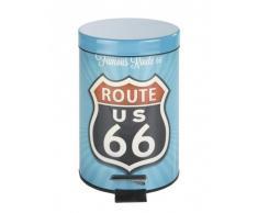 Wenko Cubo de pedal 3 lts. Vintage Route 66 Multicolor 17x26 cm