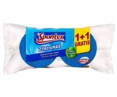 Spontex Estropajo Frotamax Fibra + Esponja No Raya (1+1uds)