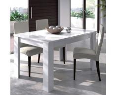 Mesa de comedor 140 , acabado blanco bri