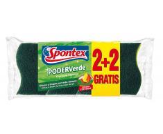 Spontex Estropajo Poder Verde con Esponja (2+2 uds)