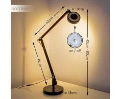 Leticia Lámpara de mesa LED Negro, 1 bombilla - 550 Lumen - Diseño - Zona interior - 3000 Kelvin - 2 - 4 días laborables .