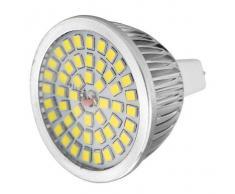 MR16 GU5.3 7W bulbo del proyector LED de luz blanca 6000K 640LM 48-SMD (12V)