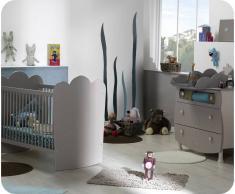 Mini dormitorio LINEA Lino Arena Cuna barrotes +Colchón