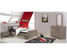 Dormitorio juvenil AUCKLAND de 4 Muebles Roble Mobila