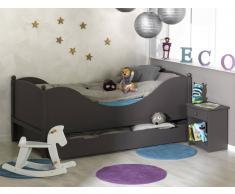 """Dormitorio juvenil """"COLOR"""" Chocolate Cama+Mesita+Somier"""