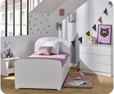 Blanco Dormitorio juvenil LUEN Blanco - Set de 3 Muebles