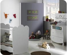 Blanco Mini dormitorio LINEA Blanco Cuna Plexi. Colchón incluido