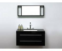 Beliani Mueble De Baño – Negro – Lavabo –armarios – Espejo – Barcelona (28620)