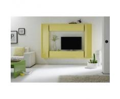 Elemento de pared TV COLORED horizontal o vertical Lacado Amarillo - Miliboo