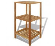 VidaXL Estantería de cuarto baño 36x36x79 cm madera maciza nogal