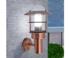 VidaXL Lámpara de pared exterior acero inoxidable color cobre