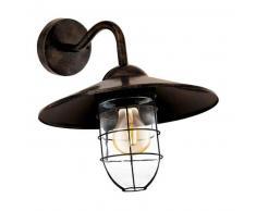 EGLO Lámpara de pared LED exterior Melgoa marrón oscuro 60 W 94863