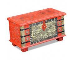 VidaXL Baúl de almacenamiento madera mango rojo 80x40x45 cm