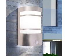 VidaXL Lámpara de pared para exterior con sensor acero inoxidable