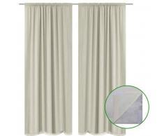 VidaXL 2 cortinas ahorradoras de energía blanco crema blackout 140x245cm