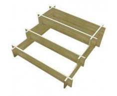 VidaXL Jardinera de madera impregnada 3 niveles 90 x 35 cm