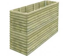 VidaXL Jardinera 206x56x96 cm de madera pino impregnada