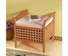 VidaXL Banco de almacenamiento madera maciza nogal 49x48x47 cm