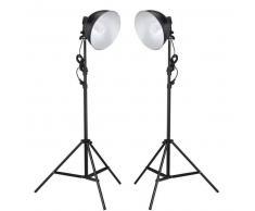 VidaXL Lámpara de estudio con reflector y trípodes 45 vatios